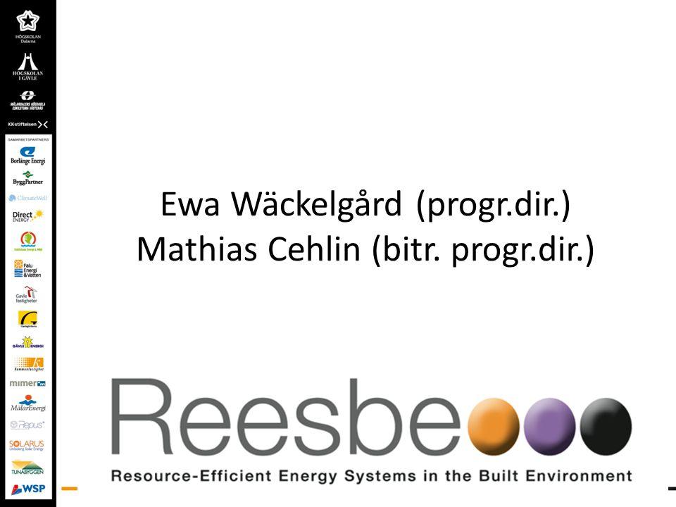 Ewa Wäckelgård (progr.dir.) Mathias Cehlin (bitr. progr.dir.)