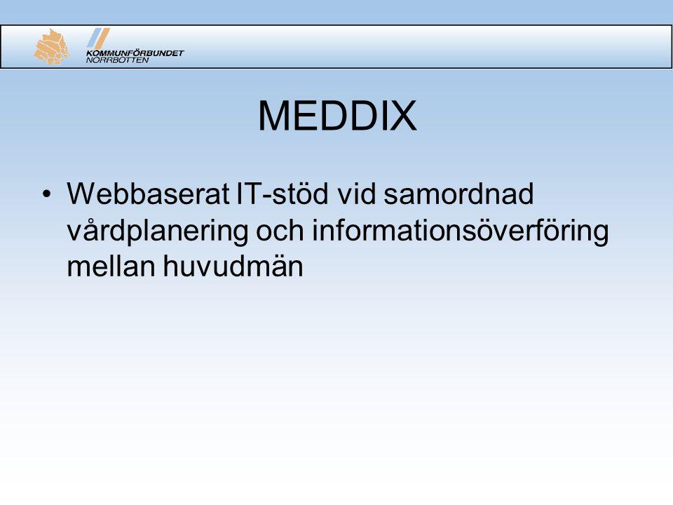 MEDDIX Webbaserat IT-stöd vid samordnad vårdplanering och informationsöverföring mellan huvudmän