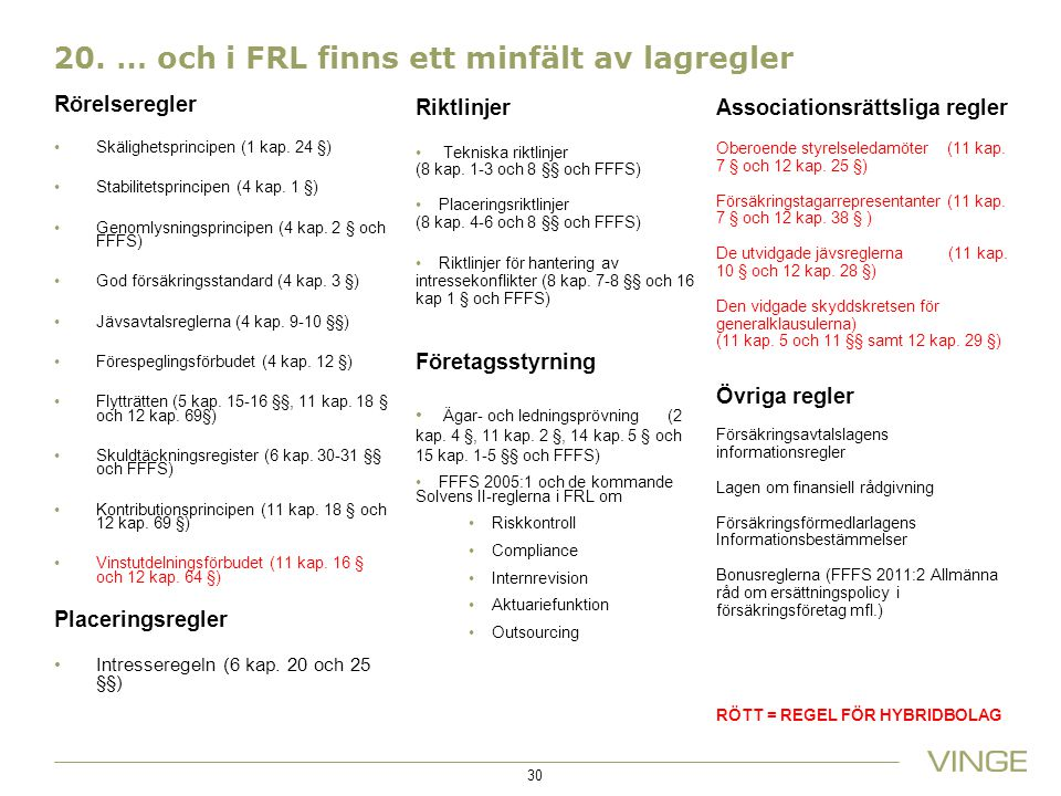 20. … och i FRL finns ett minfält av lagregler