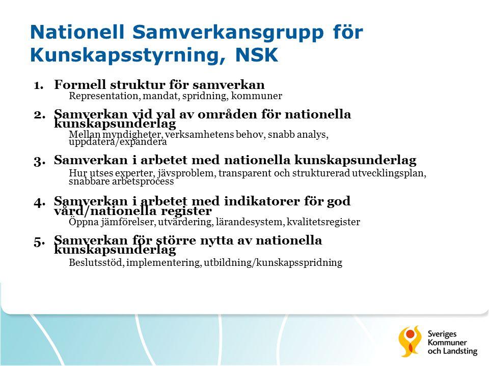 Nationell Samverkansgrupp för Kunskapsstyrning, NSK