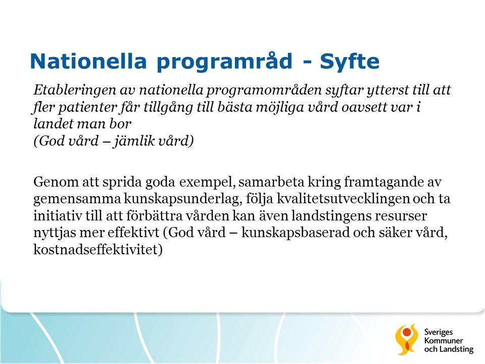 Nationella programråd - Syfte