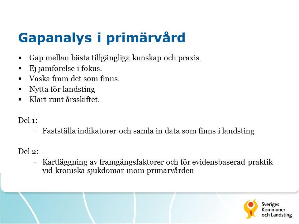 Gapanalys i primärvård