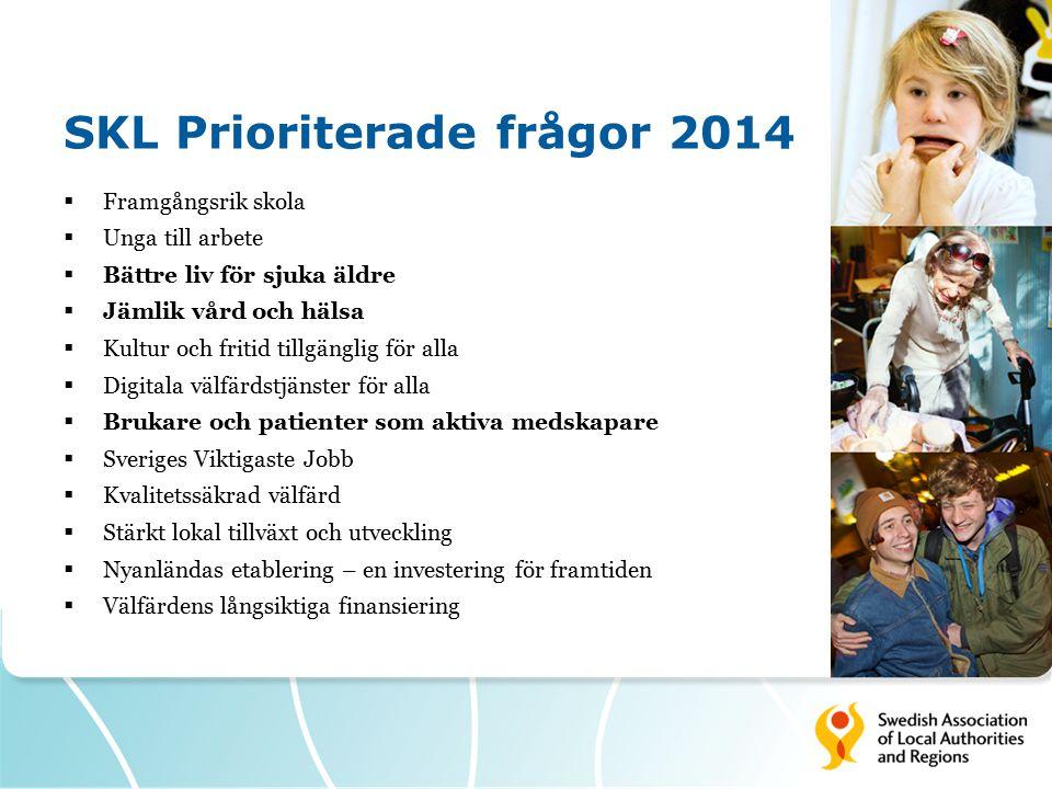 SKL Prioriterade frågor 2014
