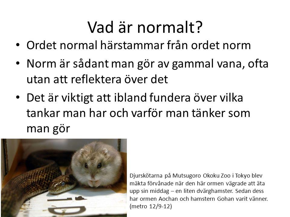 Vad är normalt Ordet normal härstammar från ordet norm