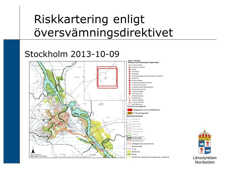 Riskkartering enligt översvämningsdirektivet