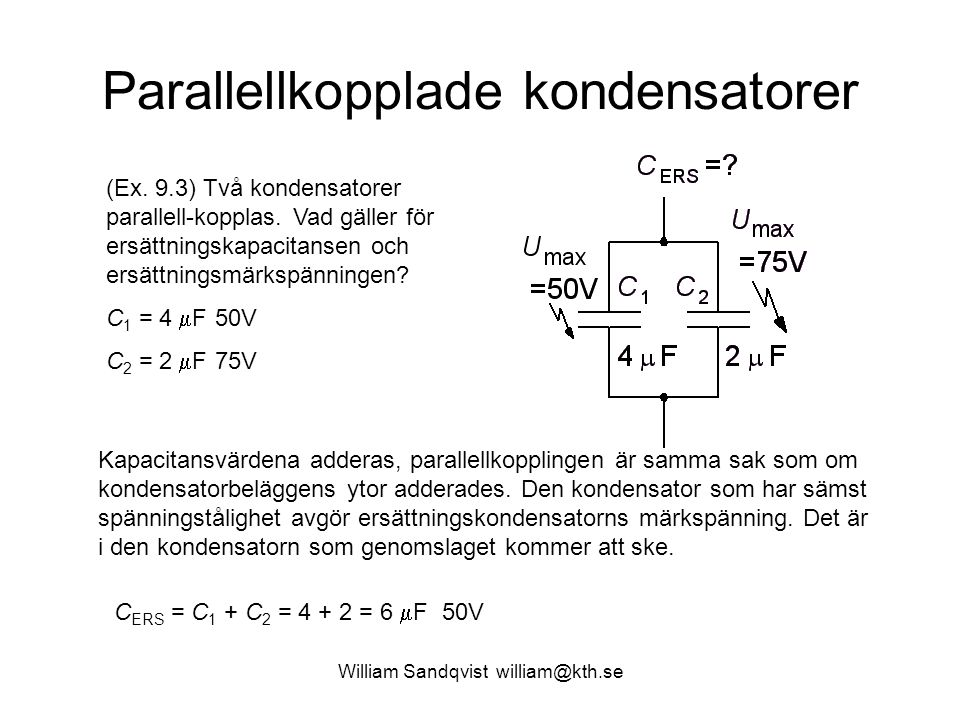 Parallellkopplade kondensatorer