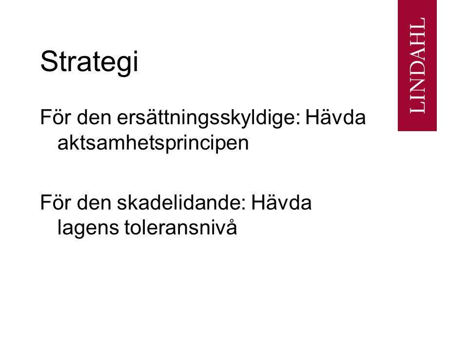 Strategi För den ersättningsskyldige: Hävda aktsamhetsprincipen