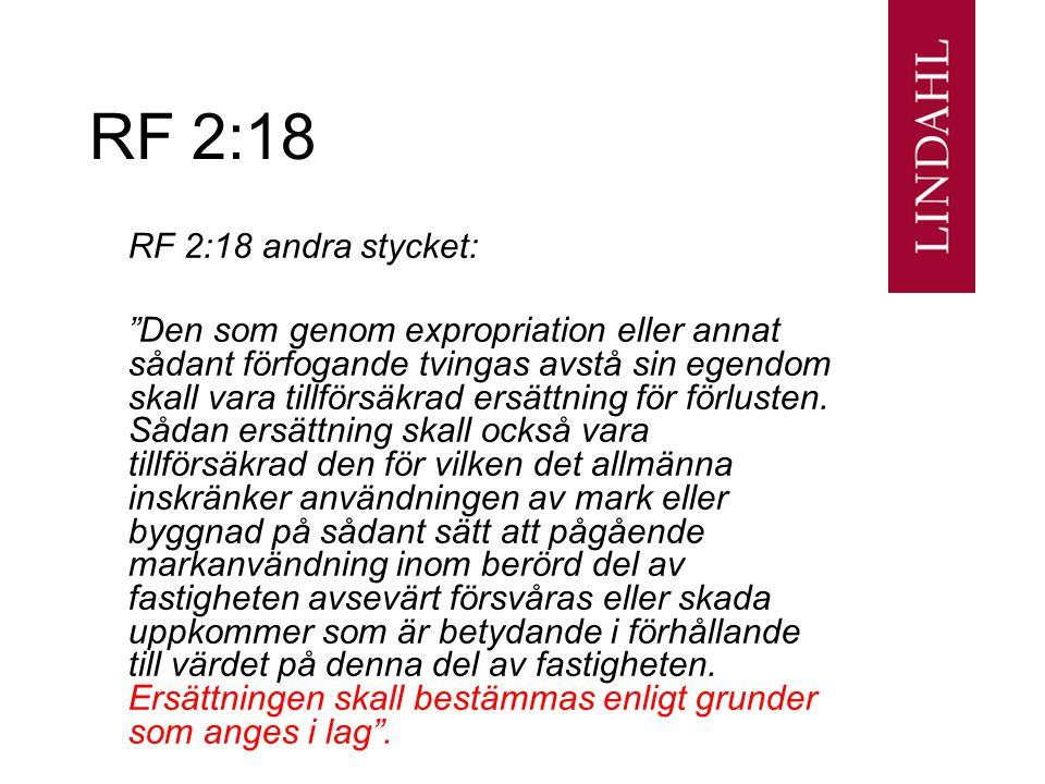 RF 2:18 RF 2:18 andra stycket: