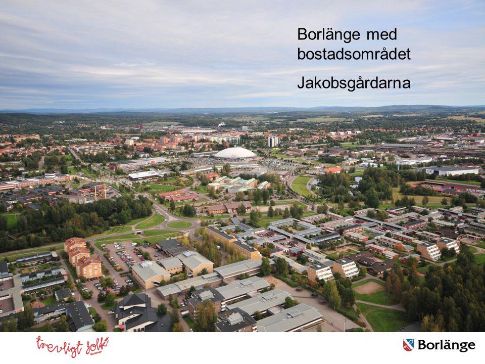 Borlänge med bostadsområdet