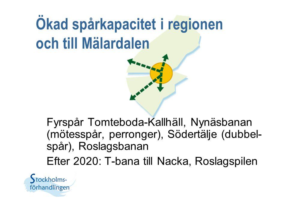 Ökad spårkapacitet i regionen och till Mälardalen