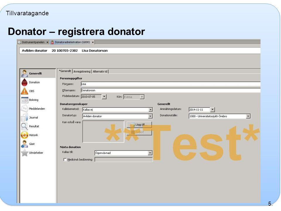 Donator – registrera donator