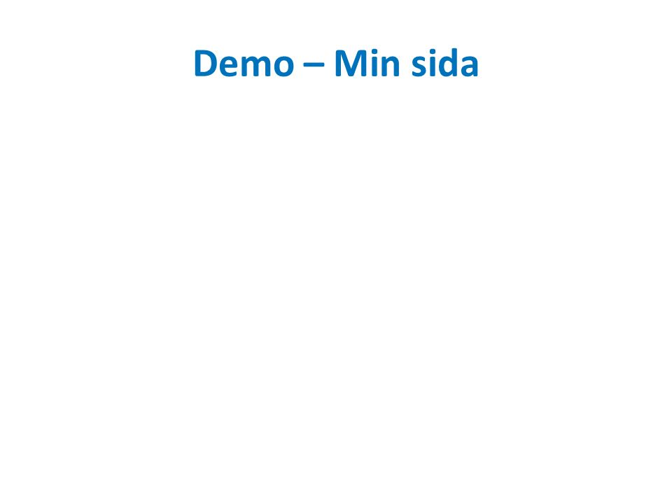 Demo – Min sida