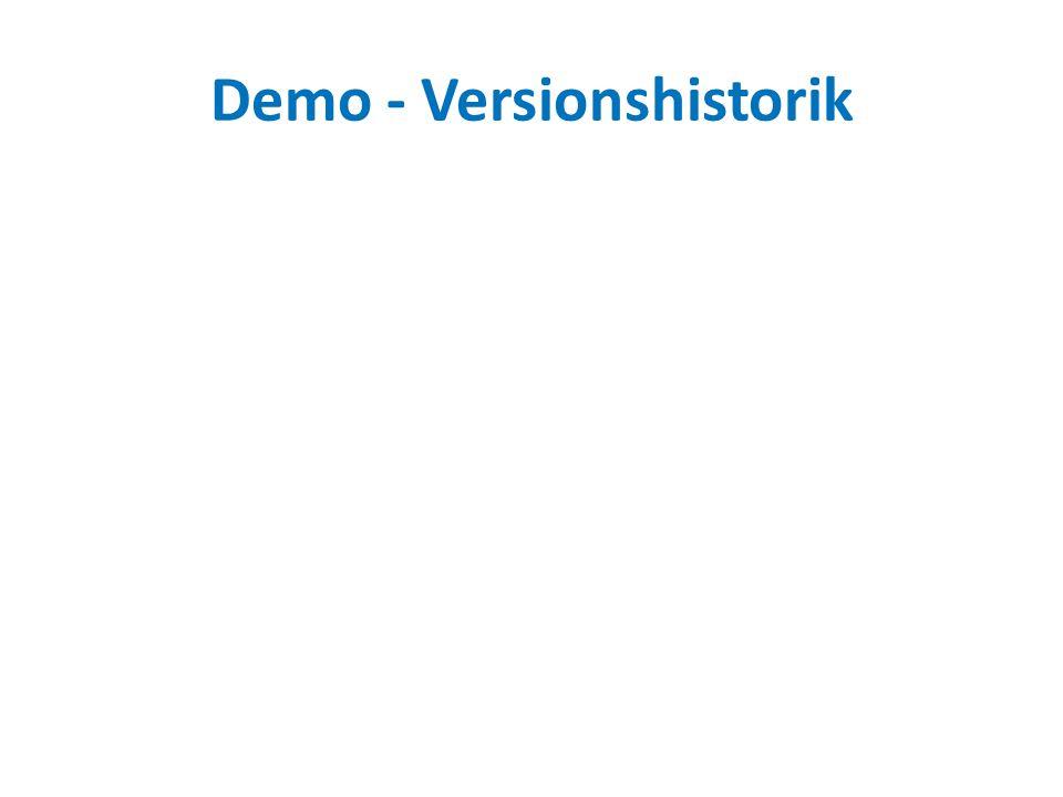 Demo - Versionshistorik