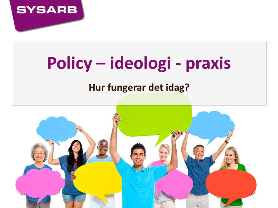 Policy – ideologi - praxis