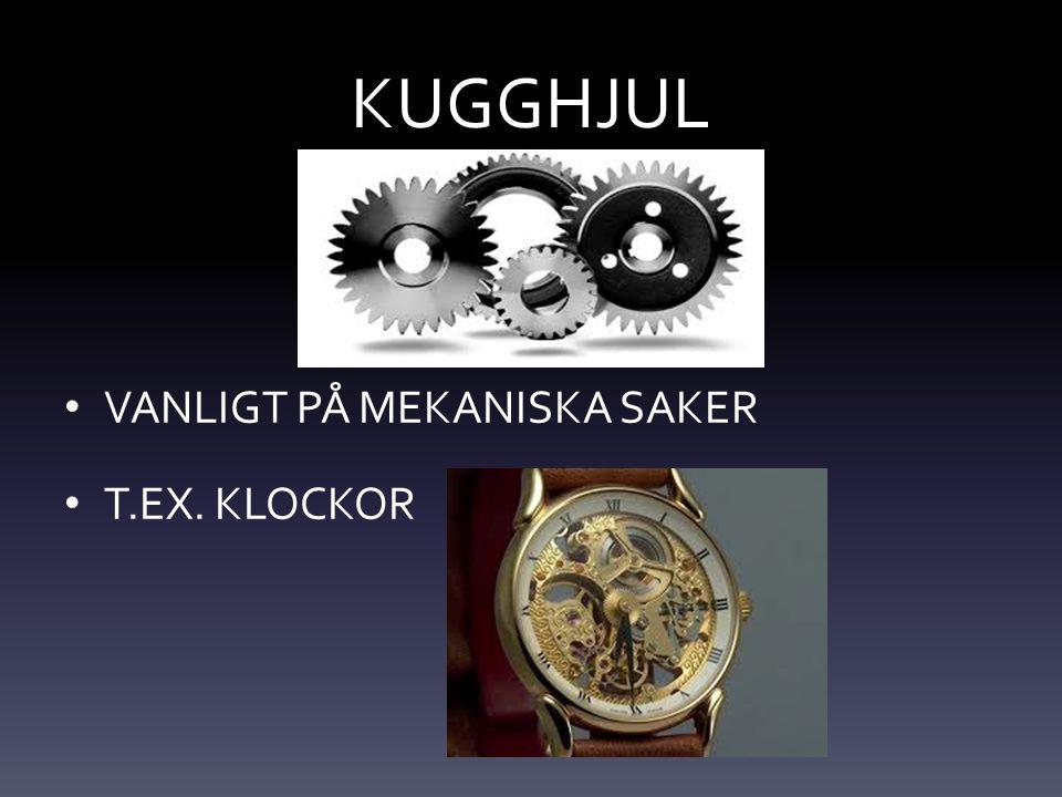 KUGGHJUL VANLIGT PÅ MEKANISKA SAKER T.EX. KLOCKOR