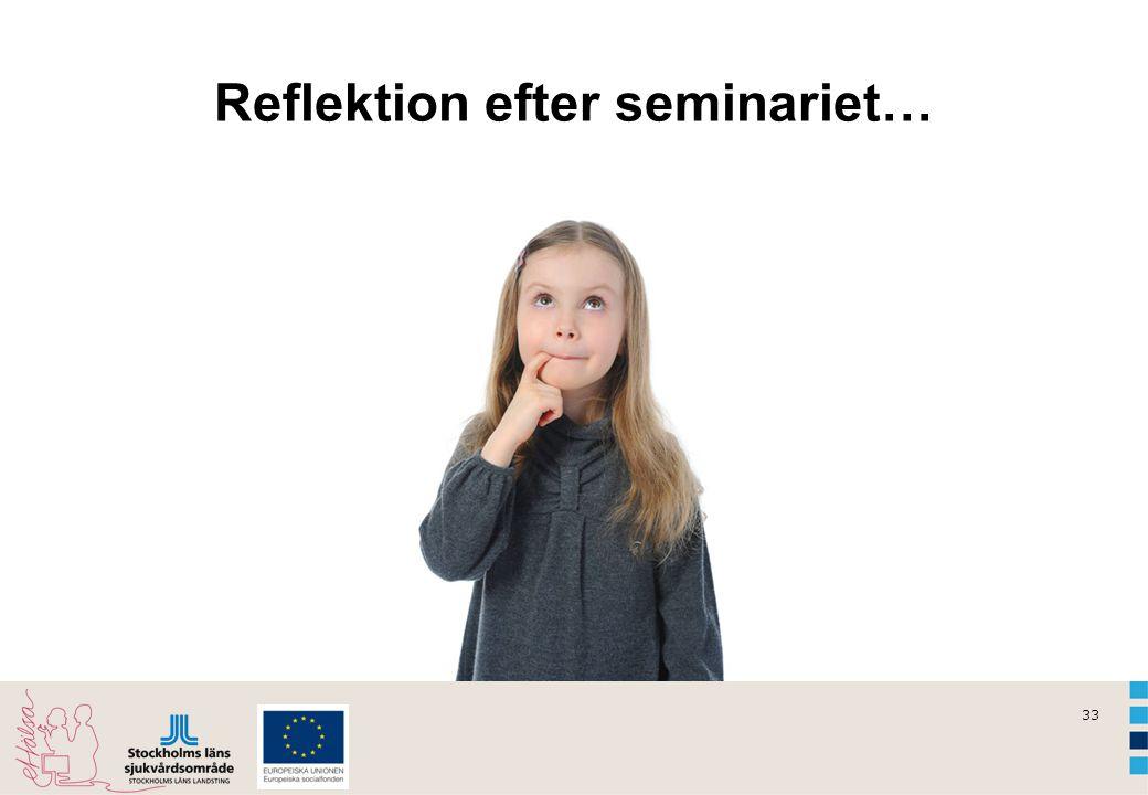 Reflektion efter seminariet…
