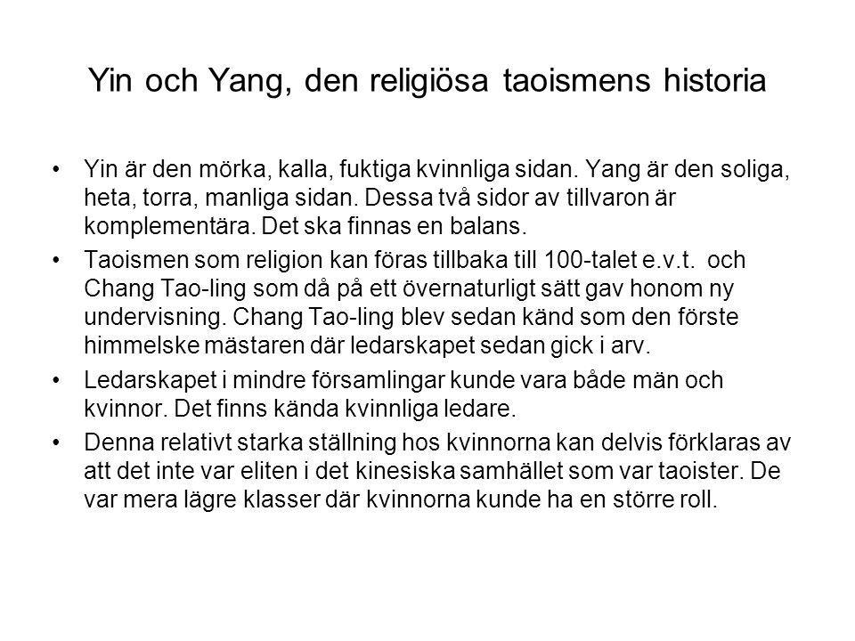 Yin och Yang, den religiösa taoismens historia