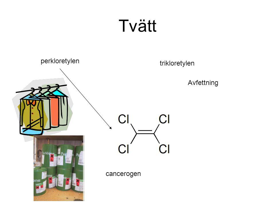 Tvätt perkloretylen trikloretylen Avfettning cancerogen