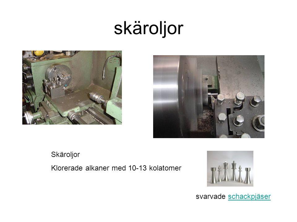skäroljor Skäroljor Klorerade alkaner med 10-13 kolatomer
