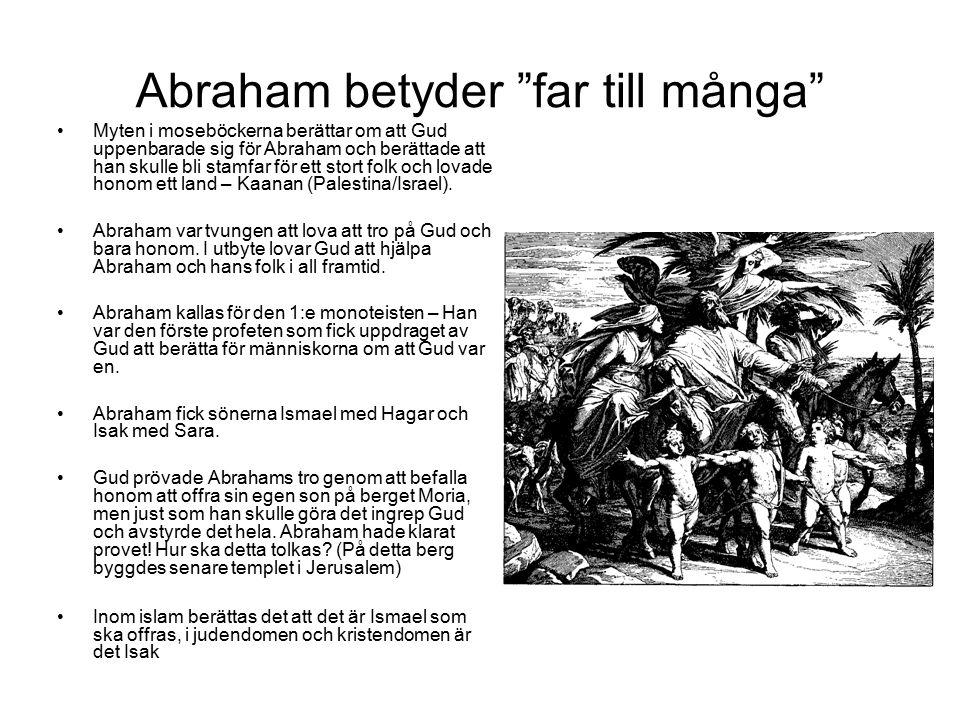 Abraham betyder far till många