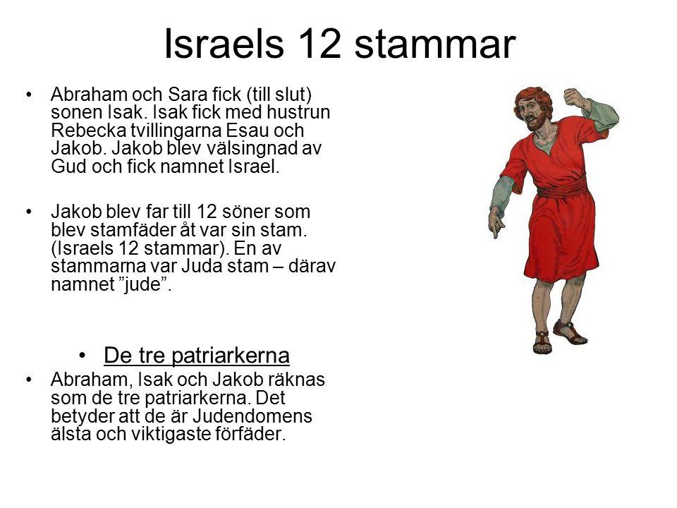 Israels 12 stammar De tre patriarkerna