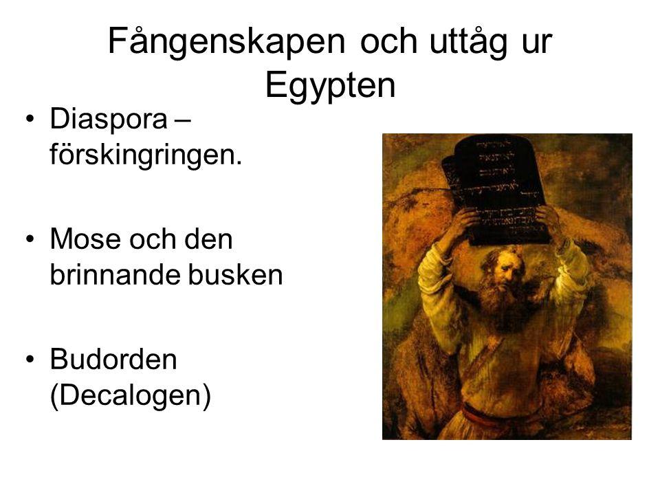Fångenskapen och uttåg ur Egypten
