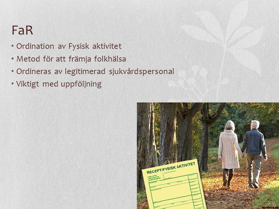 FaR Ordination av Fysisk aktivitet Metod för att främja folkhälsa