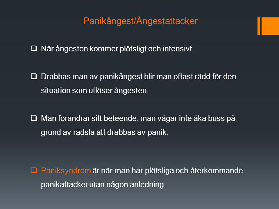 Panikångest/Ångestattacker