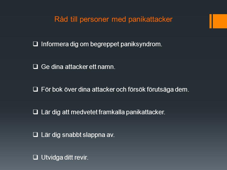 Råd till personer med panikattacker