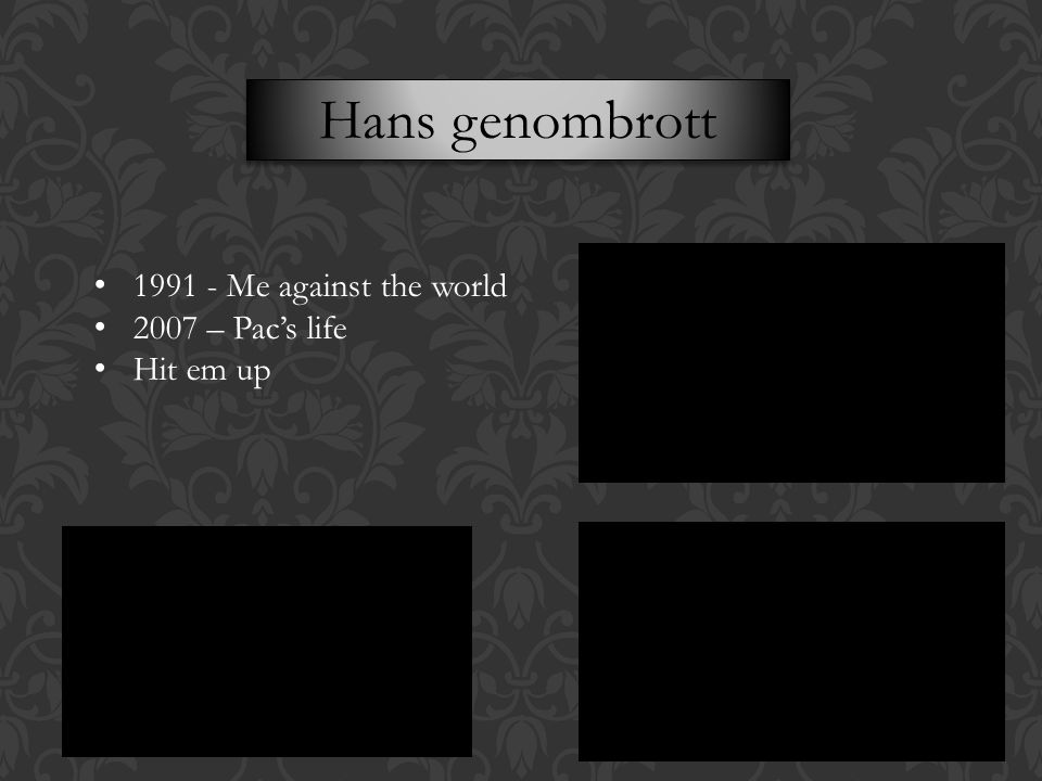 Hans genombrott 1991 - Me against the world 2007 – Pac's life