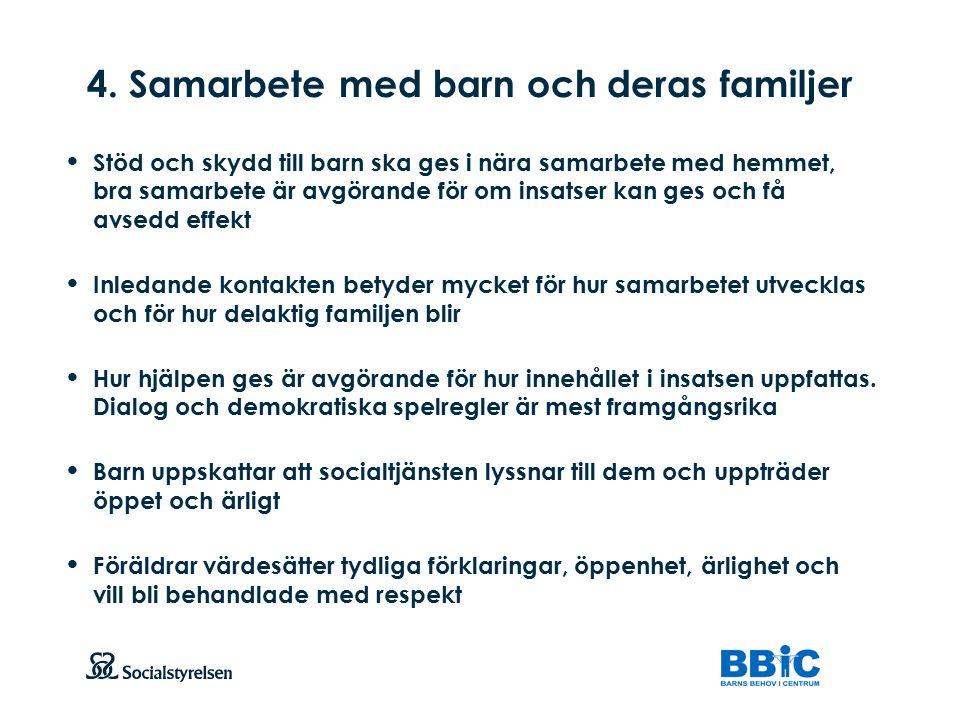 4. Samarbete med barn och deras familjer