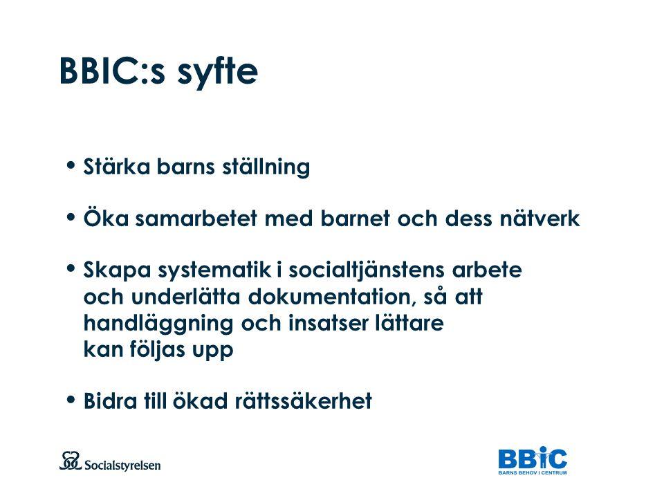BBIC:s syfte Stärka barns ställning