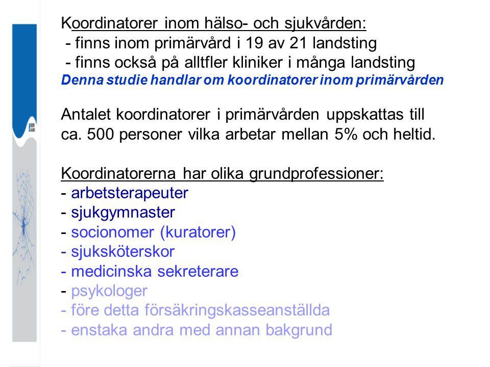 Koordinatorer inom hälso- och sjukvården: