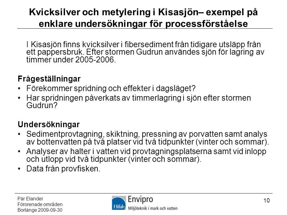Kvicksilver och metylering i Kisasjön– exempel på enklare undersökningar för processförståelse