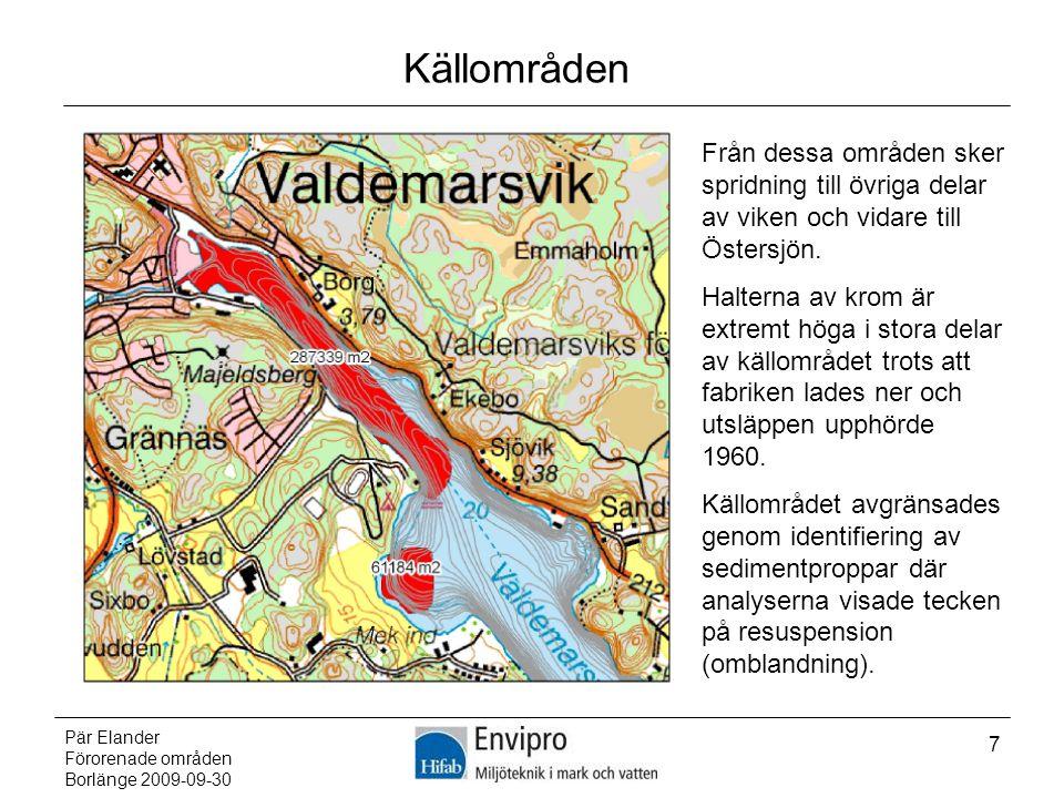 Källområden Från dessa områden sker spridning till övriga delar av viken och vidare till Östersjön.