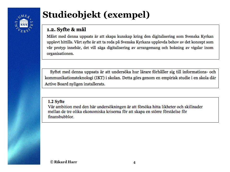 Studieobjekt (exempel)