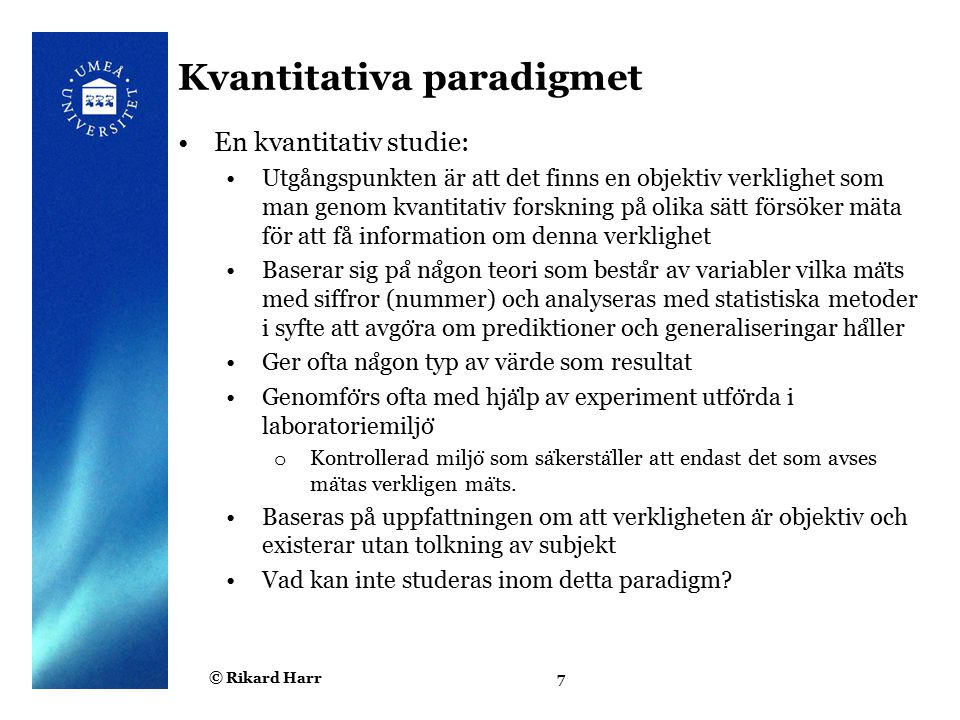 Kvantitativa paradigmet