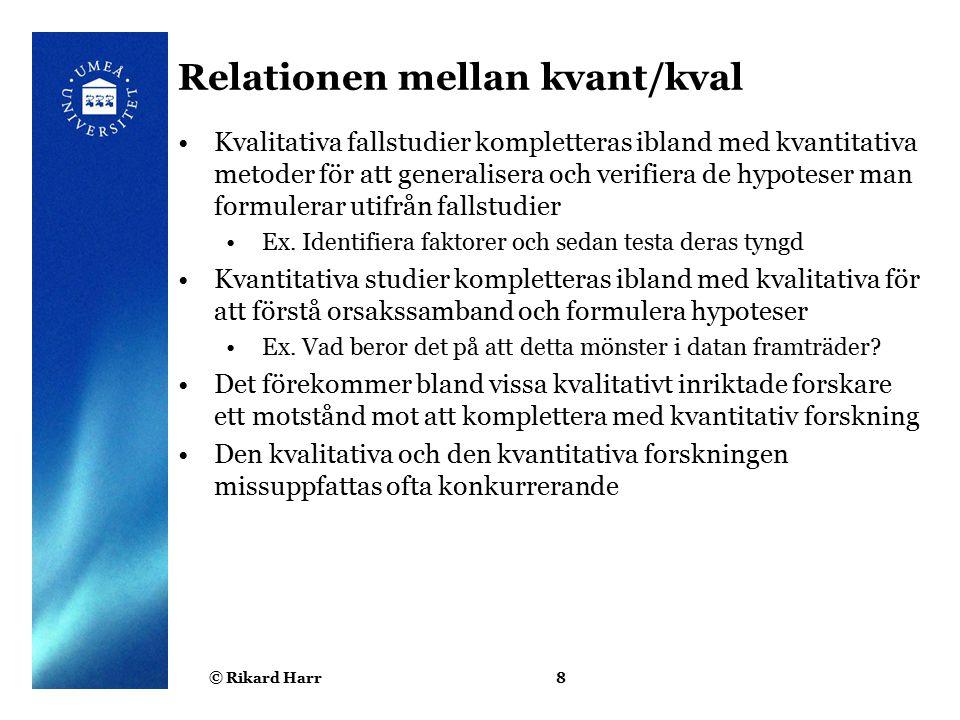 Relationen mellan kvant/kval