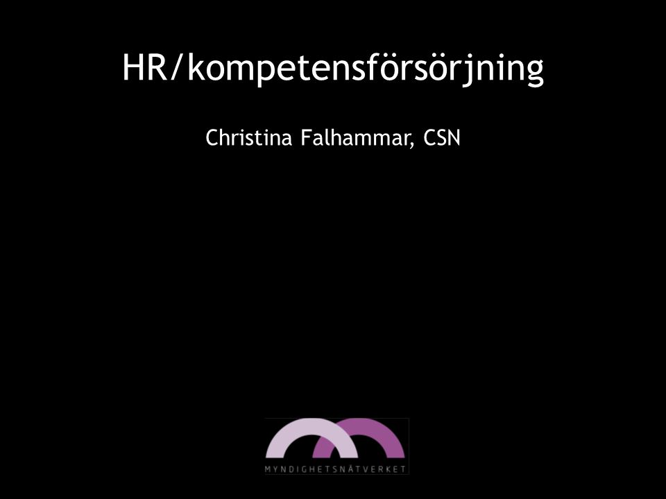 HR/kompetensförsörjning