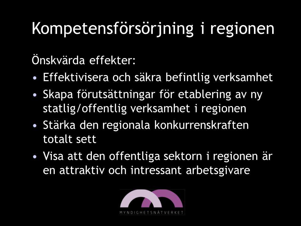 Kompetensförsörjning i regionen