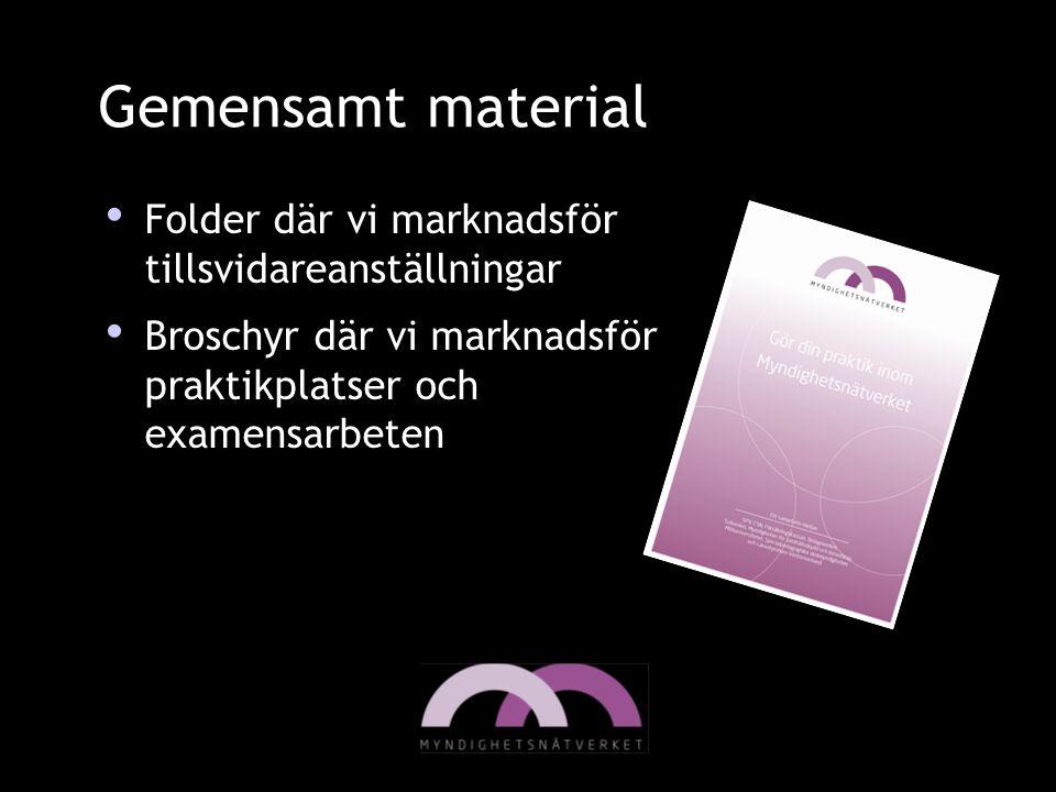 Gemensamt material Folder där vi marknadsför tillsvidareanställningar