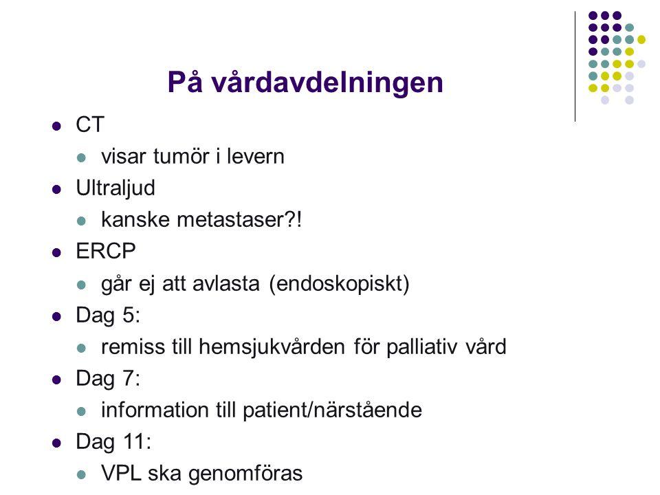 På vårdavdelningen CT visar tumör i levern Ultraljud