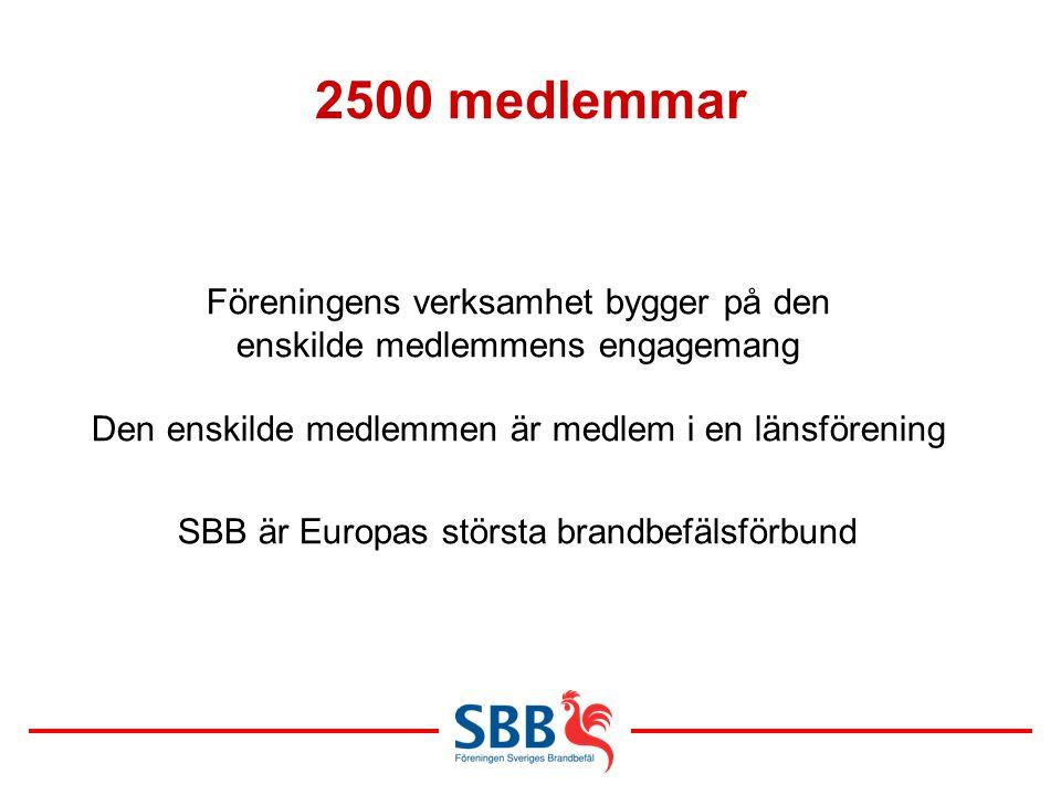 2500 medlemmar Föreningens verksamhet bygger på den enskilde medlemmens engagemang.