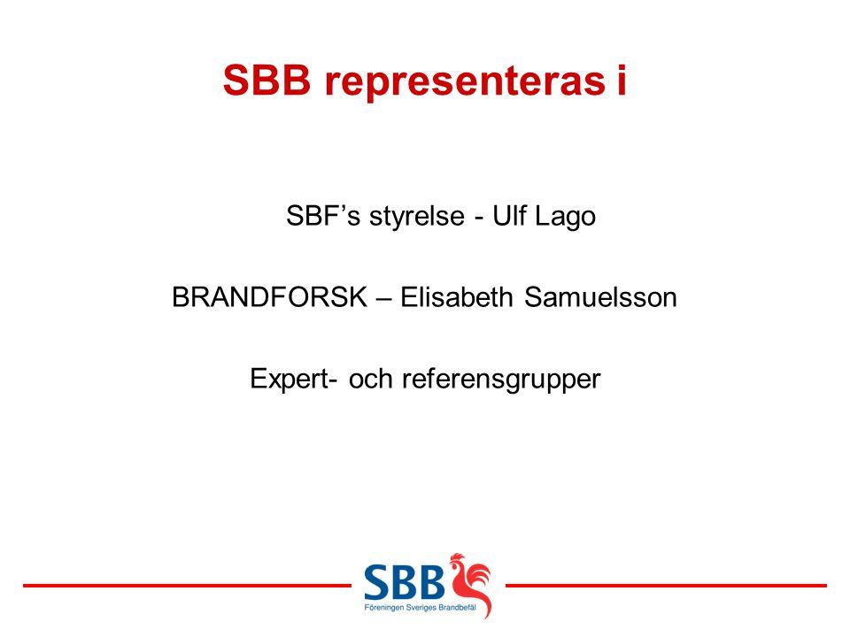 SBB representeras i SBF's styrelse - Ulf Lago