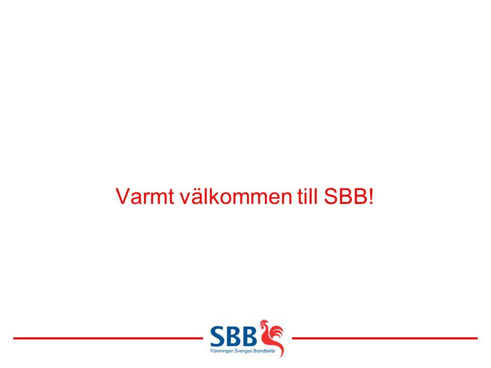 Varmt välkommen till SBB!