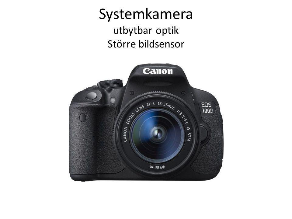 Systemkamera utbytbar optik Större bildsensor