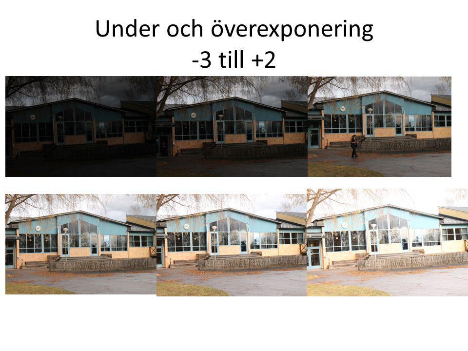 Under och överexponering -3 till +2