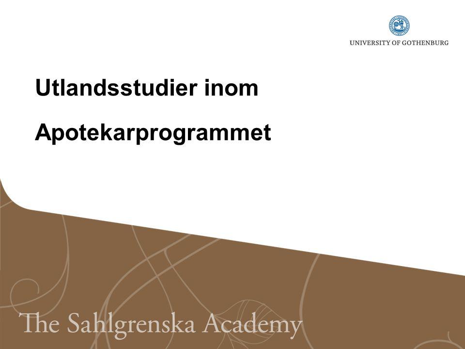 Utlandsstudier inom Apotekarprogrammet