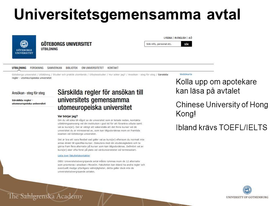 Universitetsgemensamma avtal