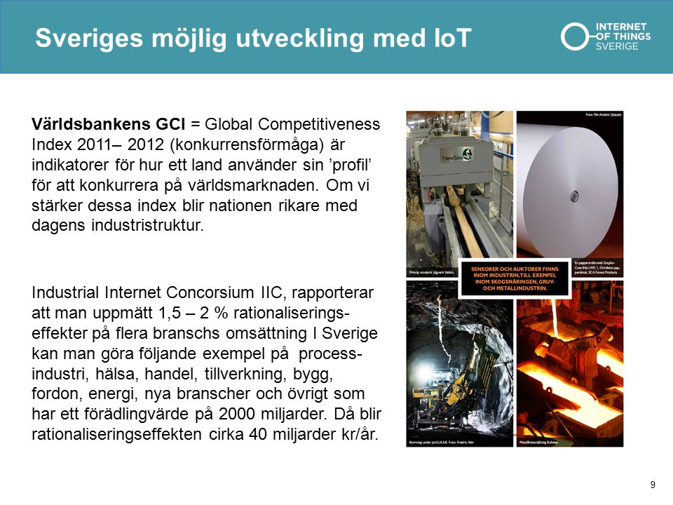 Sveriges möjlig utveckling med IoT